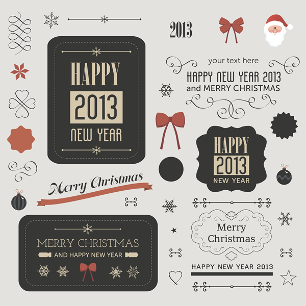 Christmas Labels & Design Elements 22