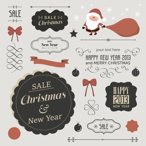 Christmas Labels & Design Elements 23
