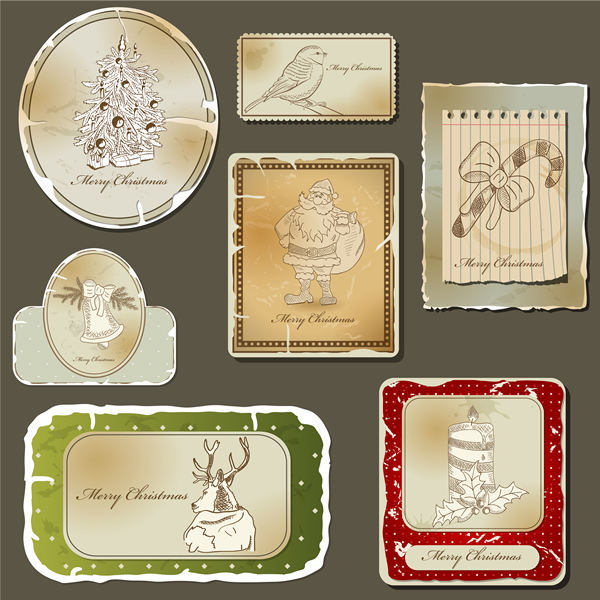 Christmas Labels & Design Elements 4