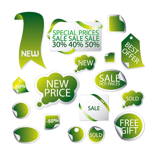 Green promotional labels 2