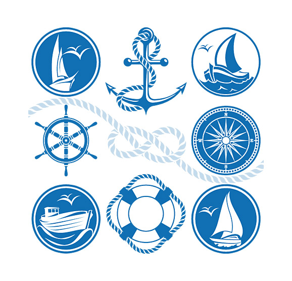 Marine Nautical Design Elements