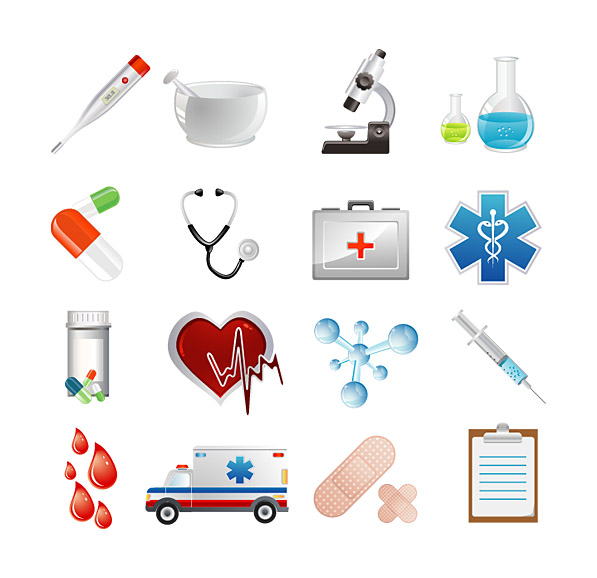 Medical Supplies Icons 2