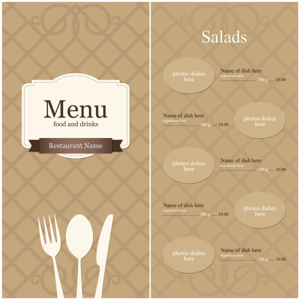 Menu Template 14 | Free Vector Graphic Download