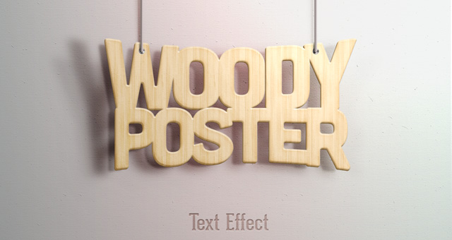 Woody Text Effect
