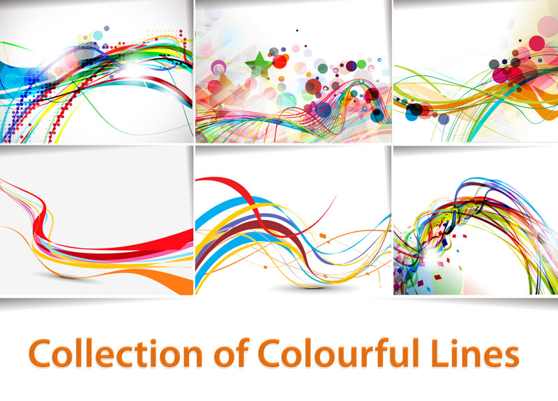 Color Line Design : Abstract lines background free vector graphic download