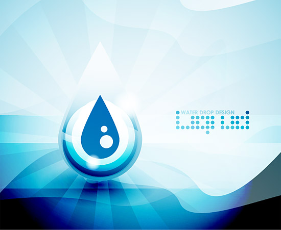 Blue Water Drops Background 2