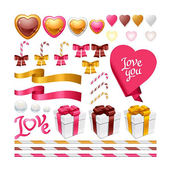 Valentine's Day Romance Icon Set