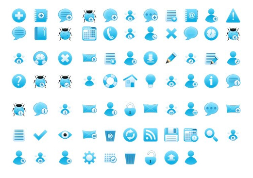 Blue icons   Free Vector Graphic Download