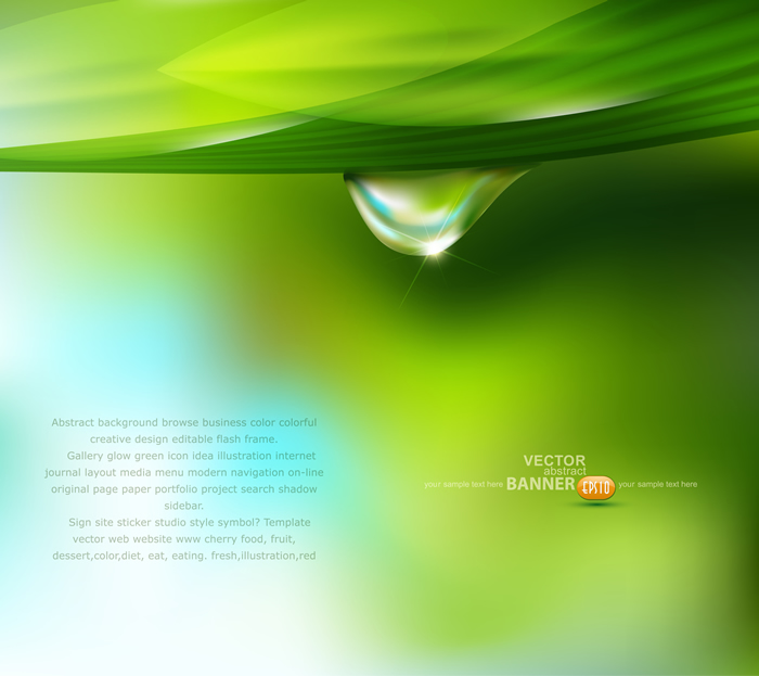Drop Abstract Banner