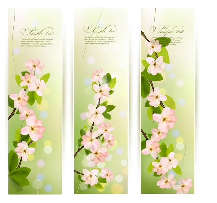Spring flowers banner free vector graphic download spring flowers banner mightylinksfo