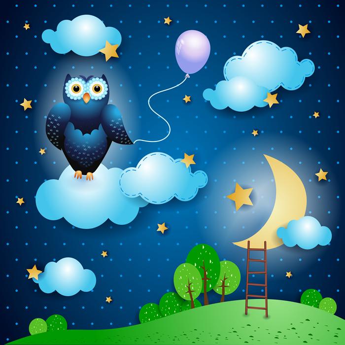 Balloon Owl - Baby Dreams