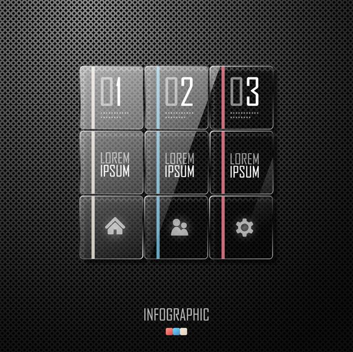Infographics Crystal box