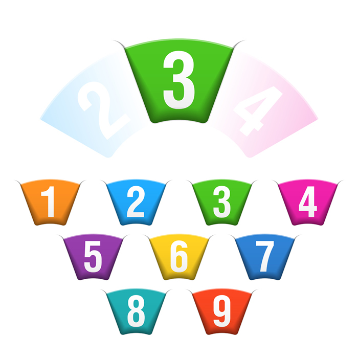 Infographics Numbered Tag