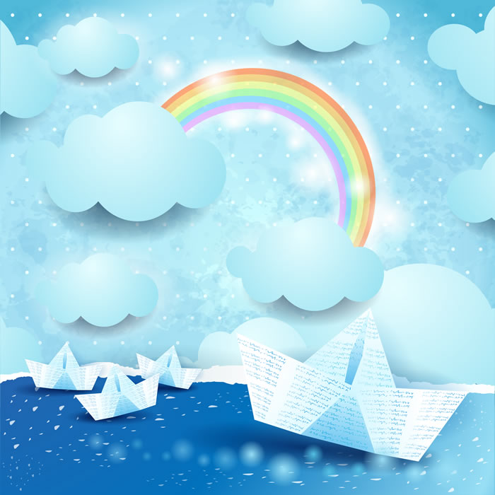 Paper Boat Rainbow - Baby Dreams