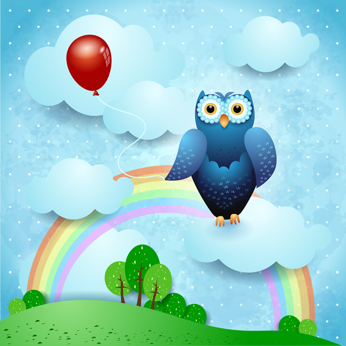 Rainbow Owl - Baby Dreams