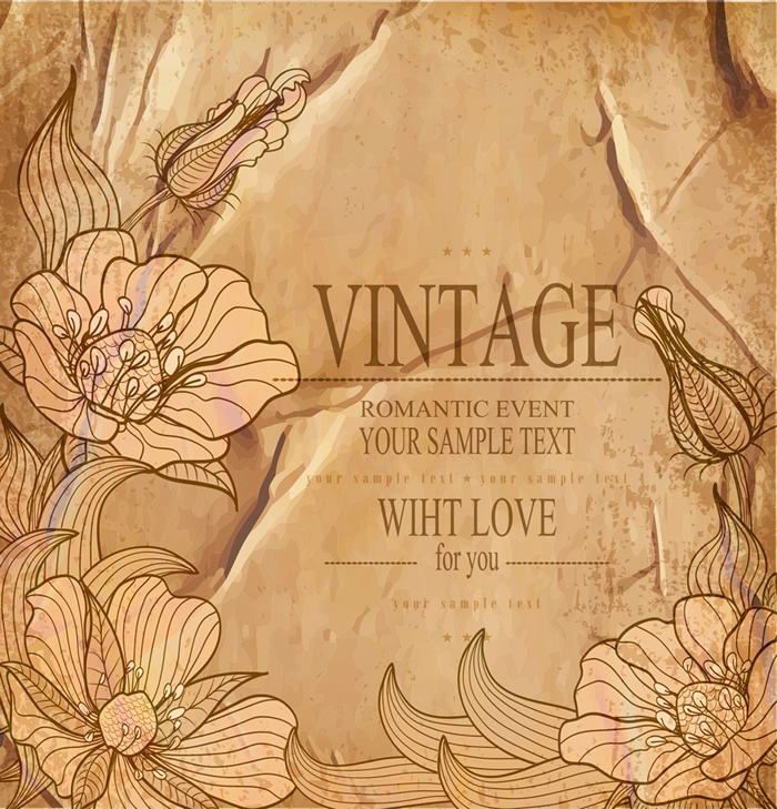 Romantic Event Vintage Bacground For you