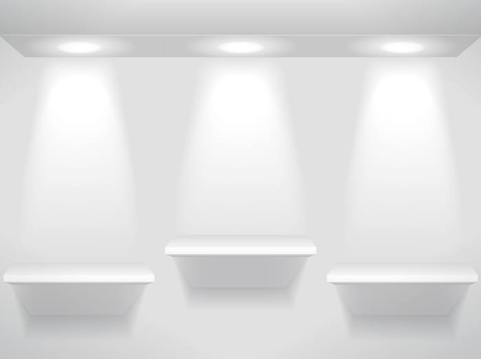 Showcase And Shelves Light Free Vector Graphic Download