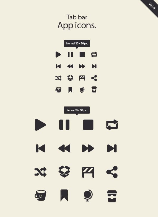 Tar Bar App Icons