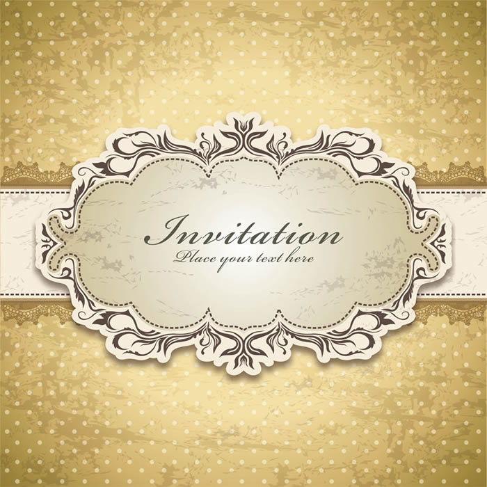 Vintage invitation free vector graphic download vintage invitation stopboris Gallery