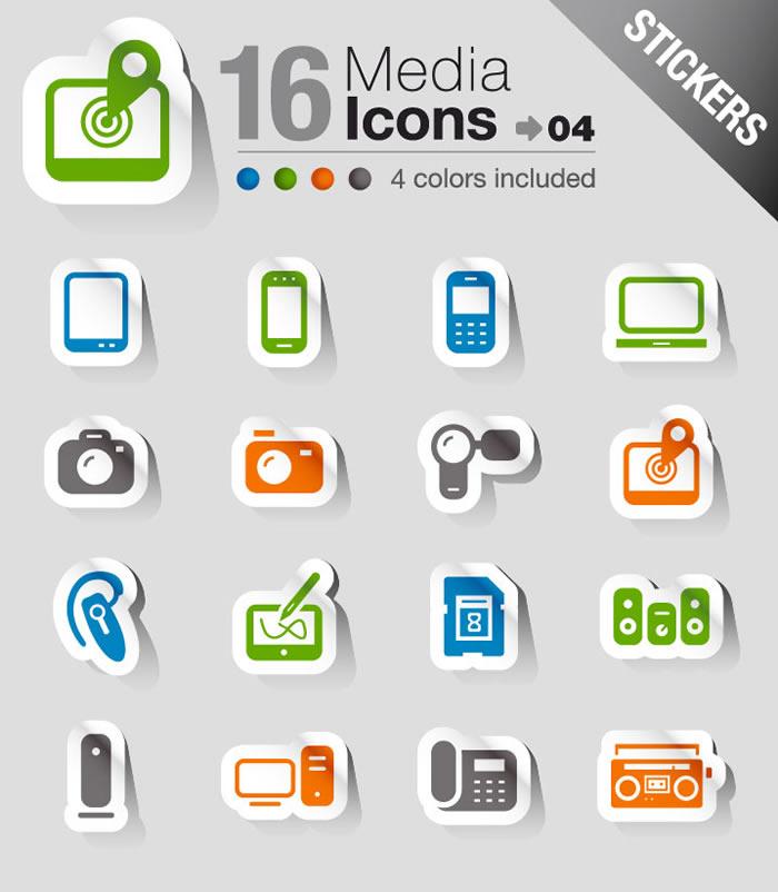 16 Media Icons