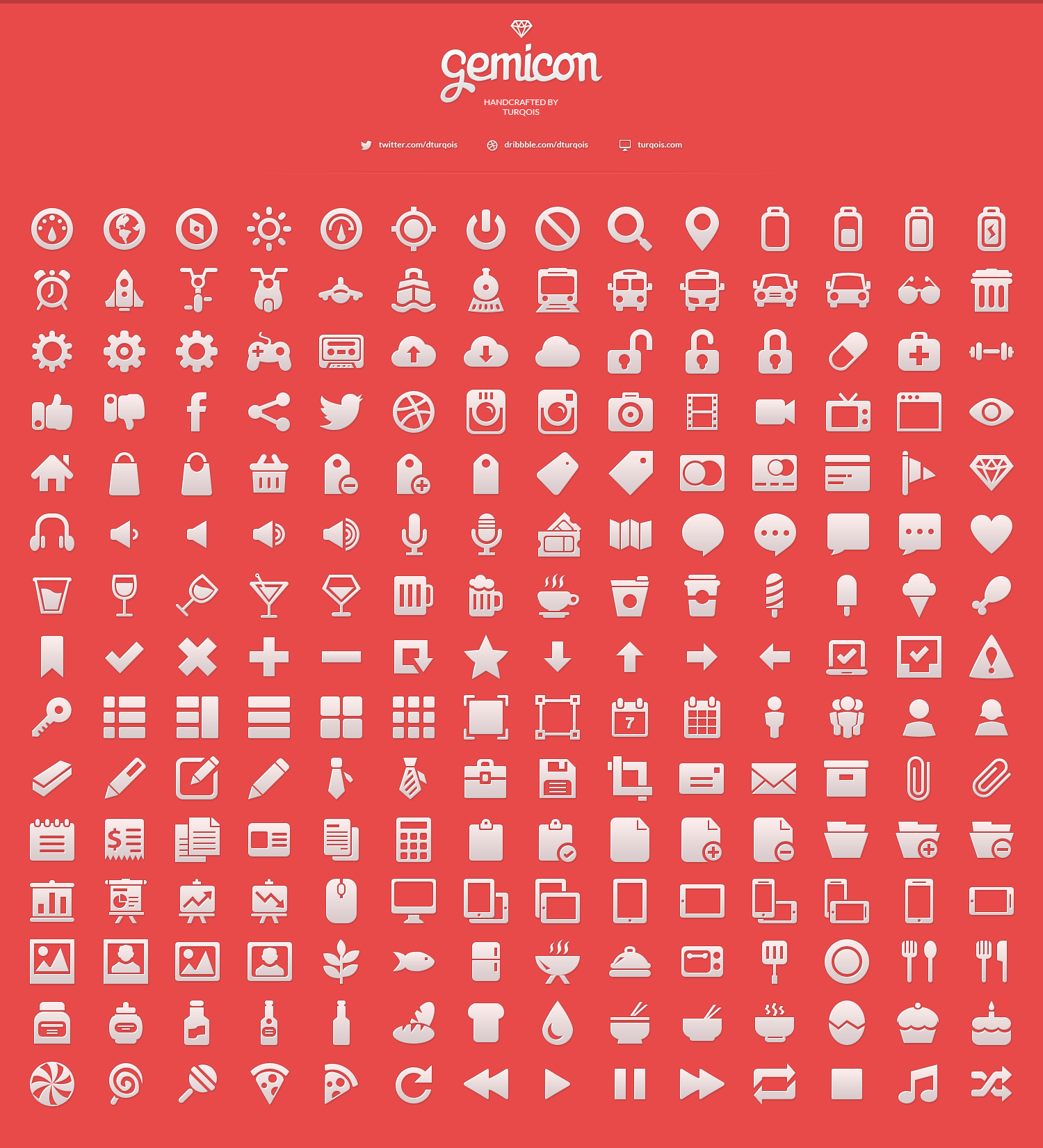 210 Gemicon White Icons