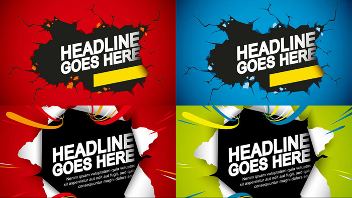 4 HeadLine Goes Here Banner