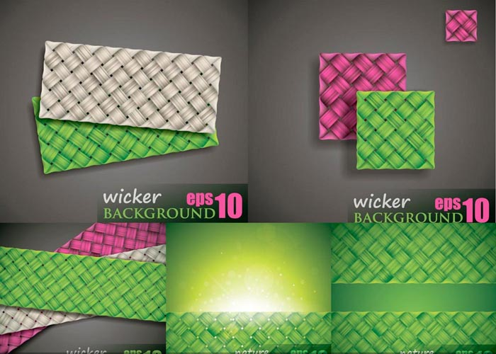 5 Wicker Background