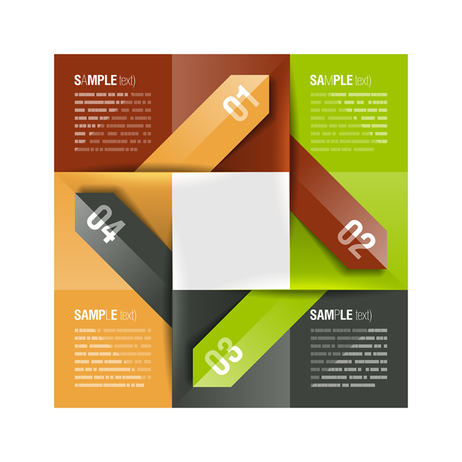 Abstract Paper Infographics 5