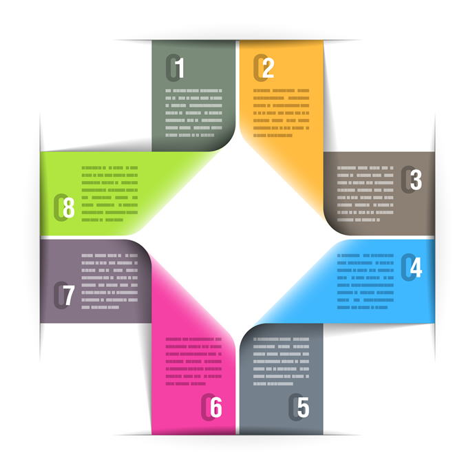 Abstract Paper Infographics 8
