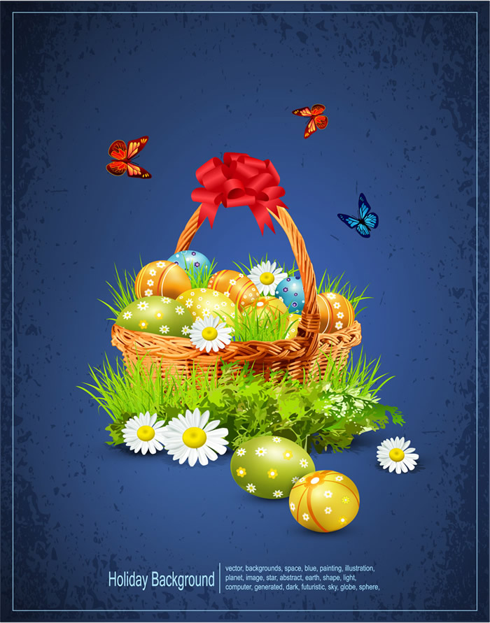 Basket of Eggs Easter