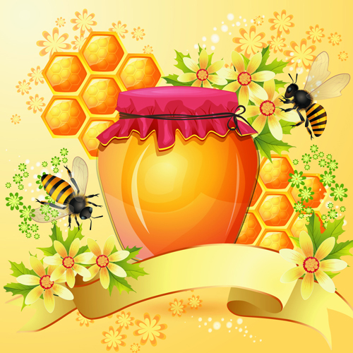 Bees Honeycomb and Honey Products 2
