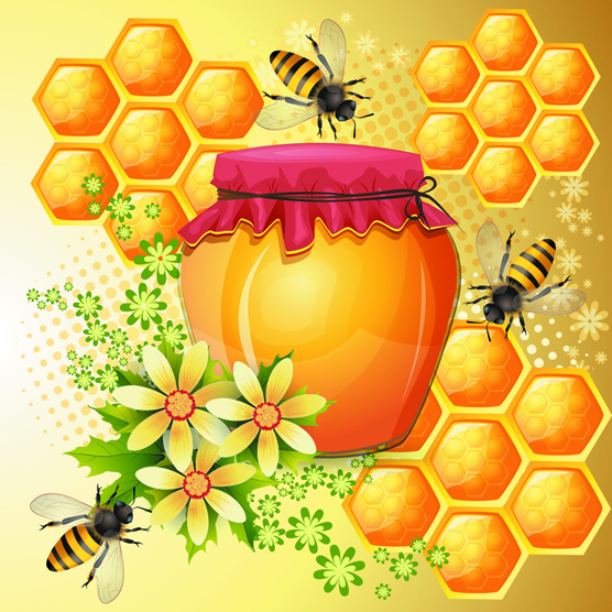 Bees Honeycomb and Honey Products