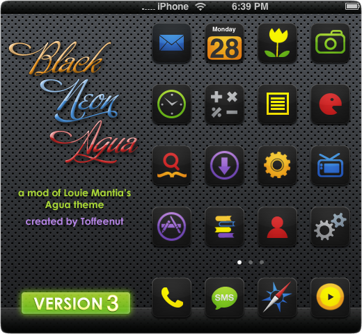 Black Meon Agua iPhone UI