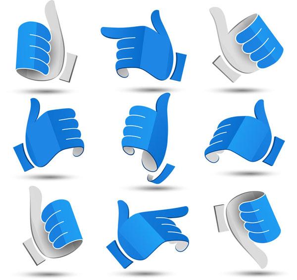 Blue 3D Gesture