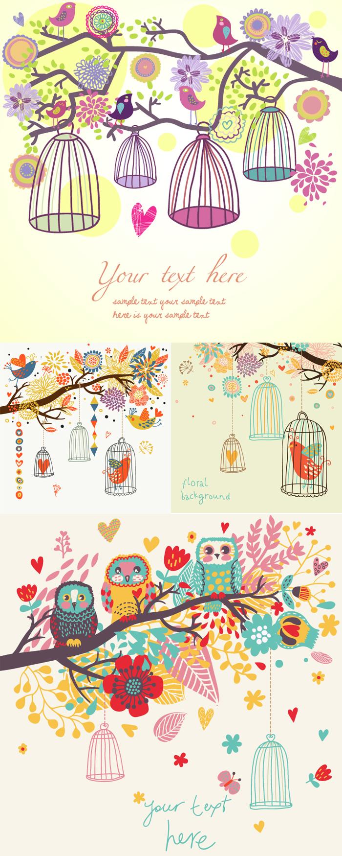 Cartoon Bird Illustrator