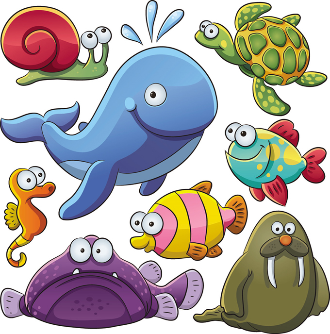 Cartoon Marine Animals 3