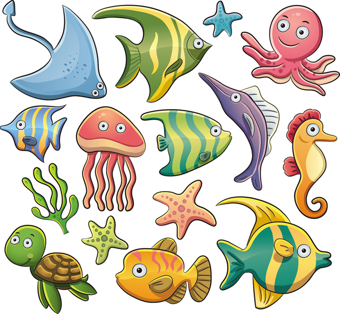 Cartoon Marine Animals 4