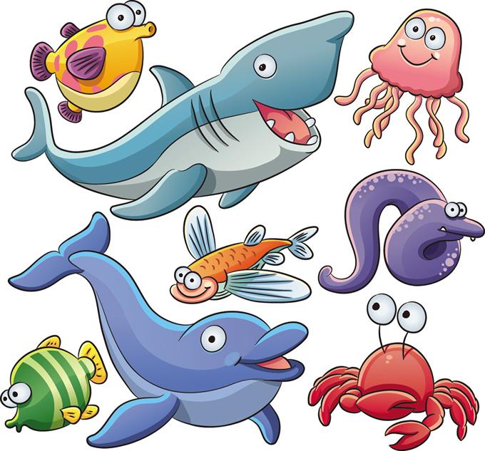Cartoon Marine Animals 5