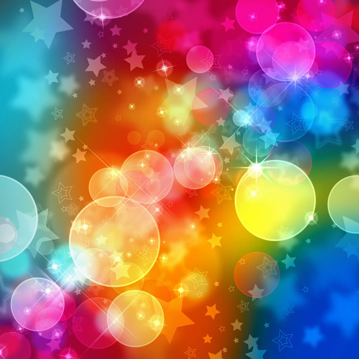 colorful bubble stars free vector graphic download