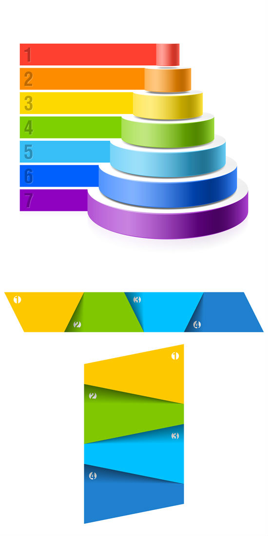 Colorful Numbered Graphics