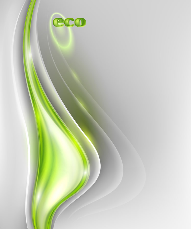 Eco Abstract Flow Line Background