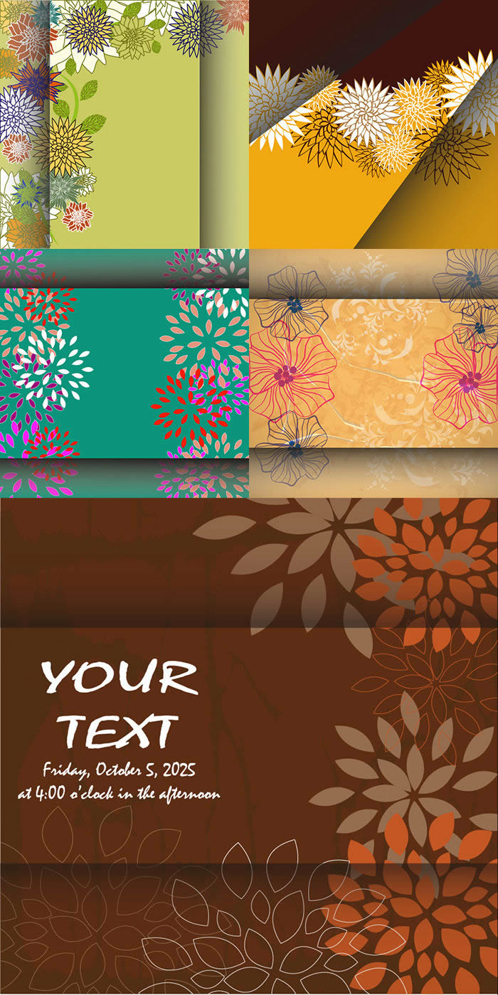 Folding Pattern Background Set