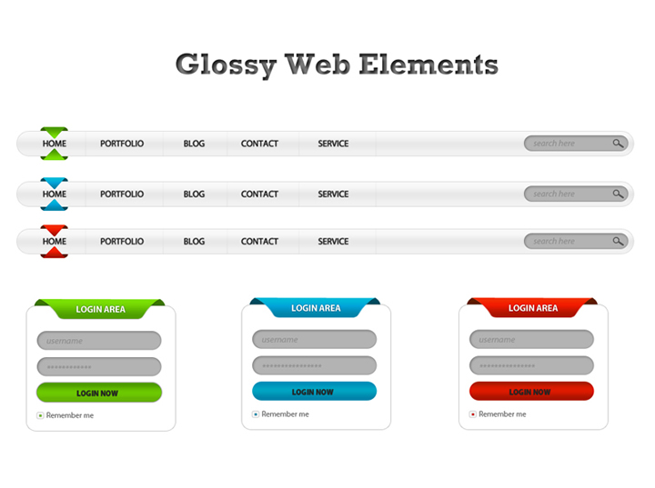 Glossy Web Elements