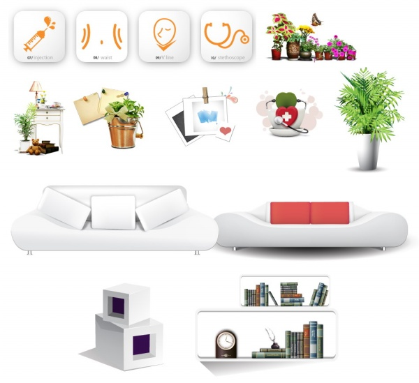 Home decoration psd free vector graphic download Download home decoration pics