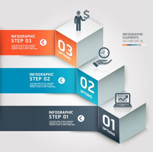 Infographic Number Step