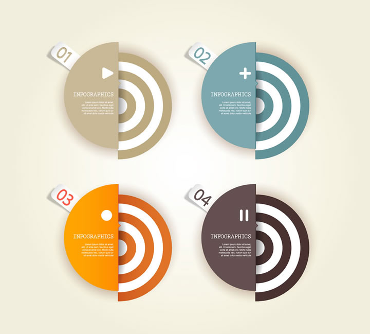 Infographic Numbered Semicircle