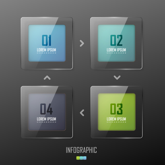 Infographic Numbered Square