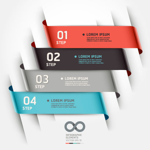 Infographic Ribbon Numbered Elements
