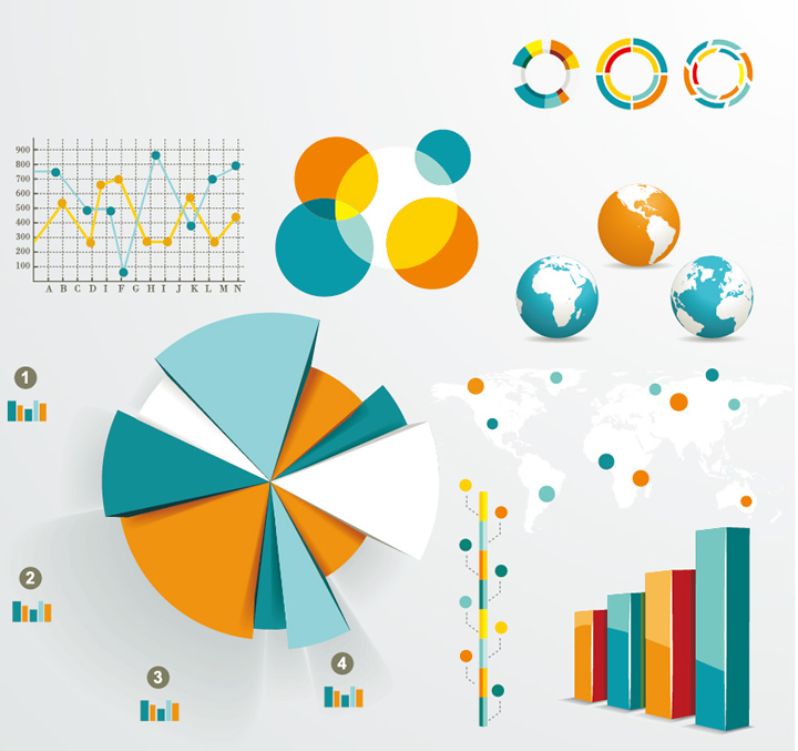 Infographics And Chart Design Elements 4
