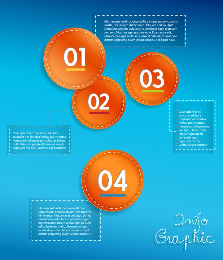 Infographics Circle Data